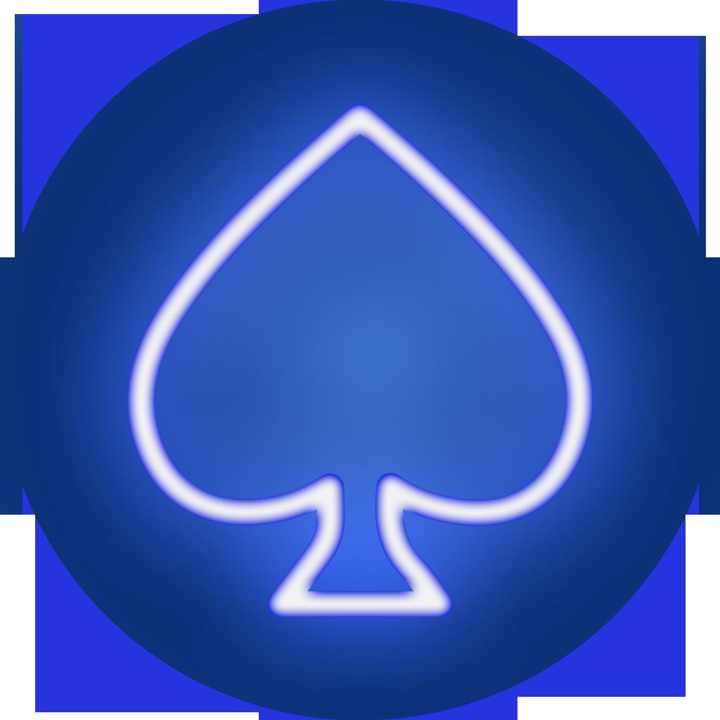 poker spade icon blue
