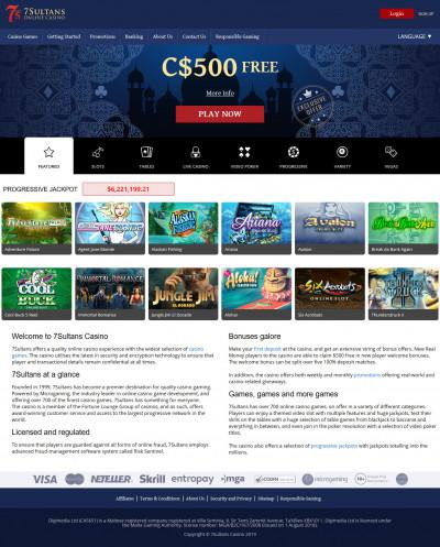 7 Sultans Casino kuvakaappaus