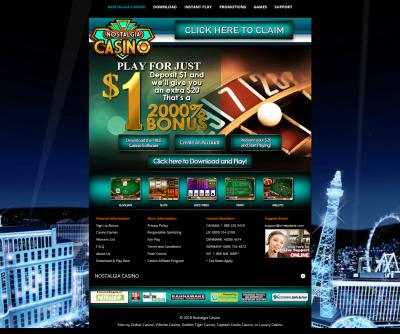 Nostalgia Casino Screenshot