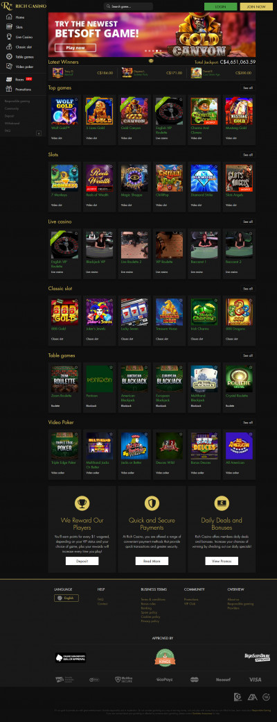 Rich Casino Screenshot