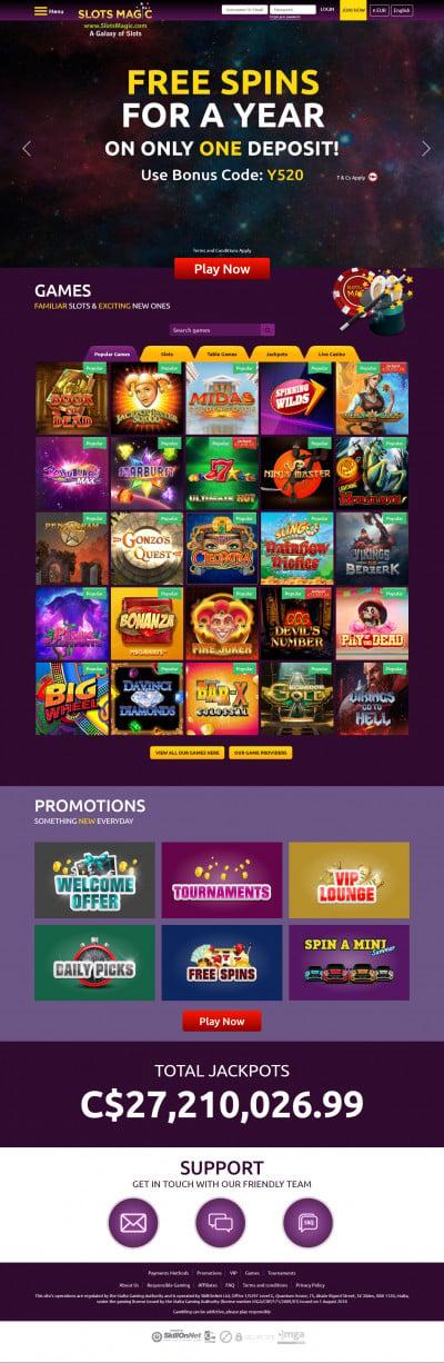 Slots Magic Casino Screenshot