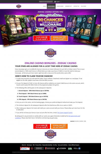 Zodiac Casino kuvakaappaus