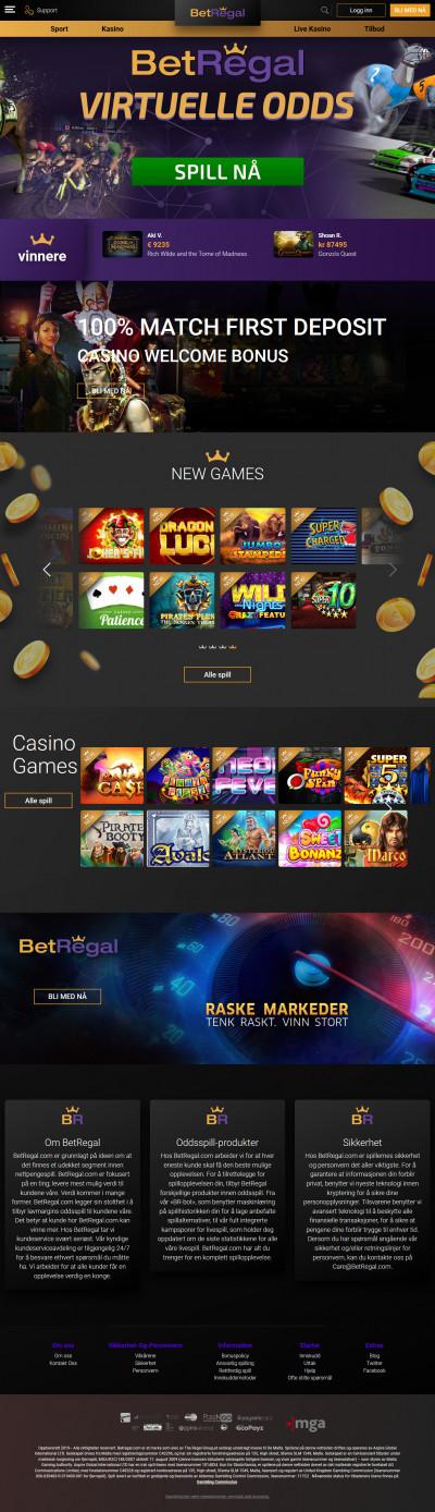 BetRegal Casino Screenshot