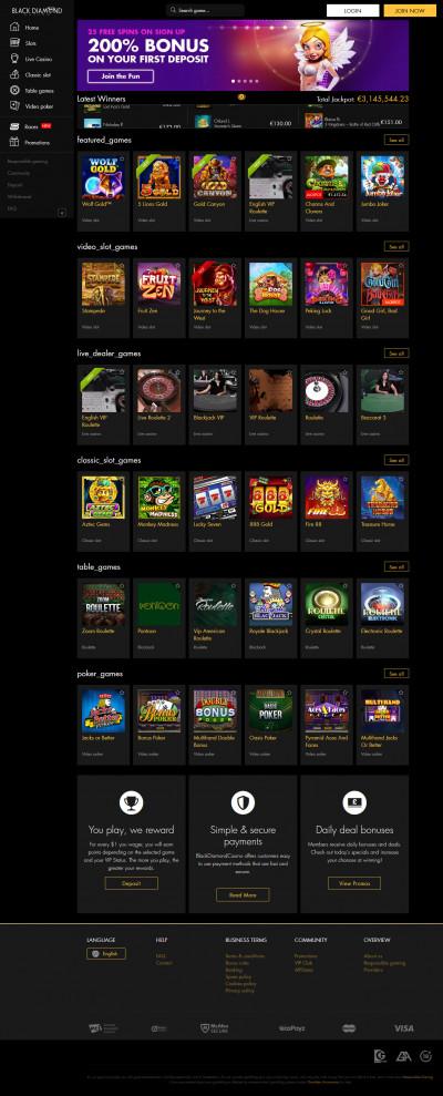 Black Diamond Casino kuvakaappaus