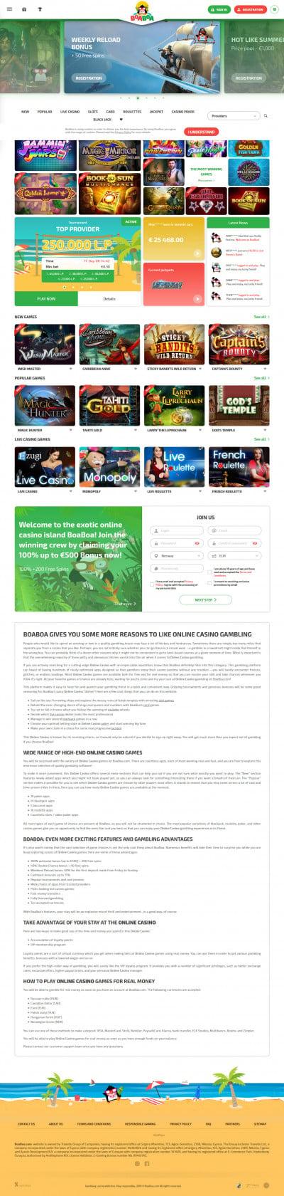 Boaboa Casino kuvakaappaus