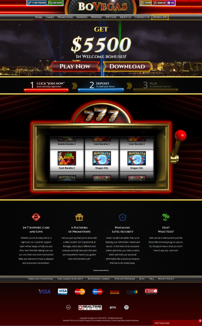 BoVegas Casino Screenshot