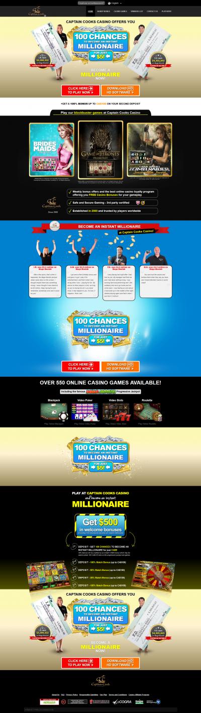 Captain Cooks Casino Screenshot