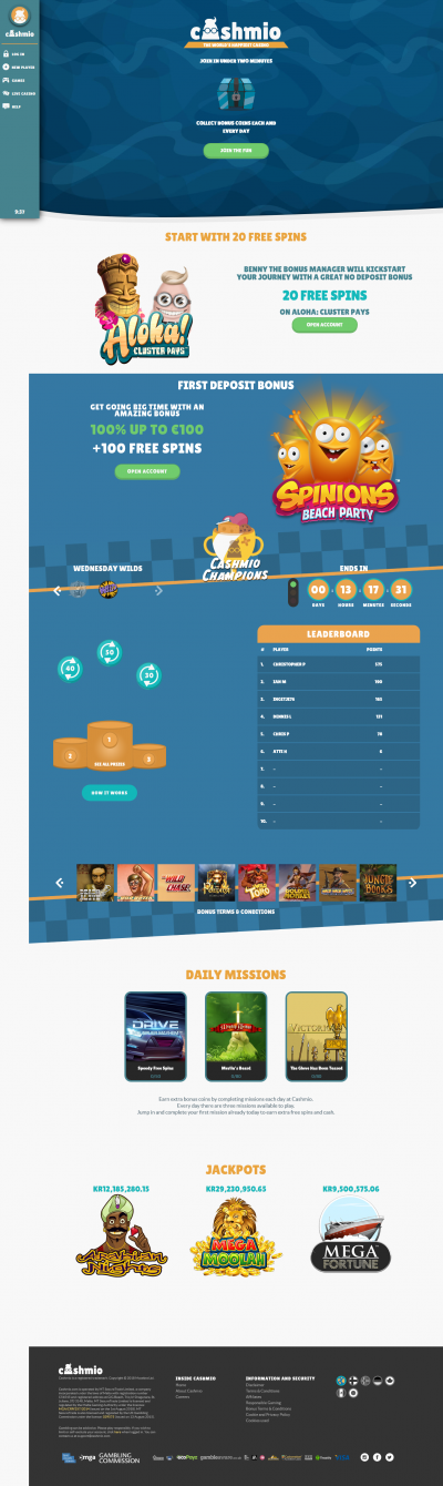 Cashmio Casino Screenshot