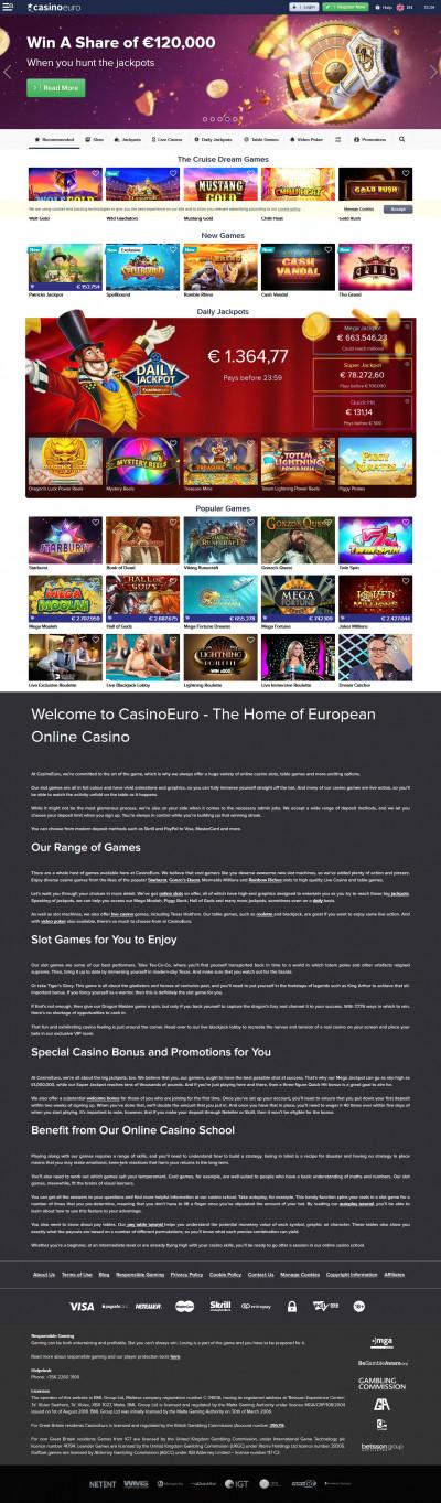 CasinoEuro Screenshot