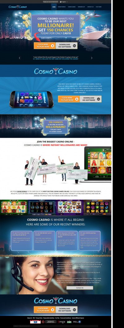 Cosmo Casino Screenshot