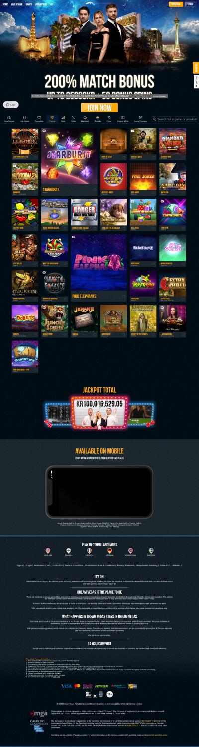 Dream Vegas Casino kuvakaappaus