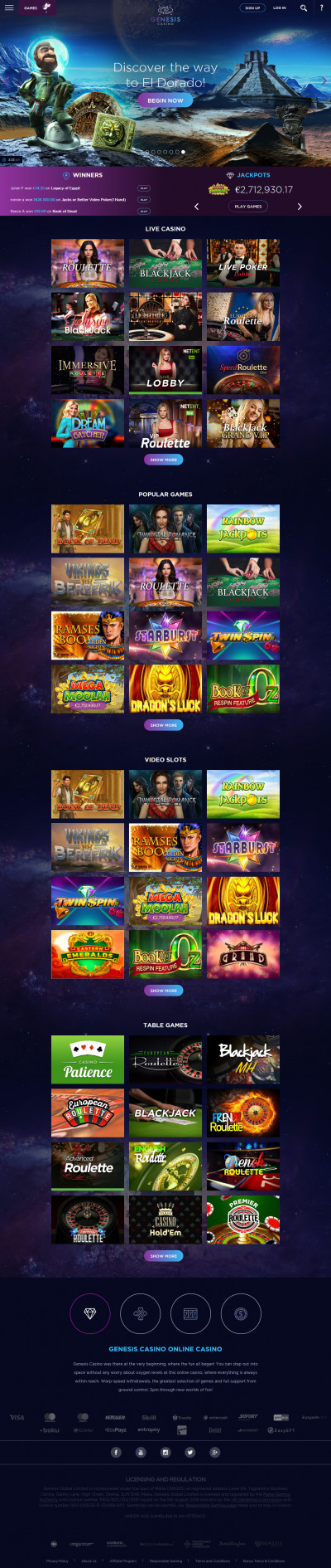 Genesis Casino Screenshot