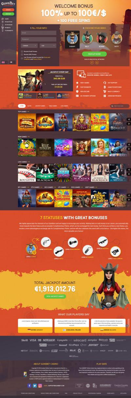 GunsBet Casino Screenshot