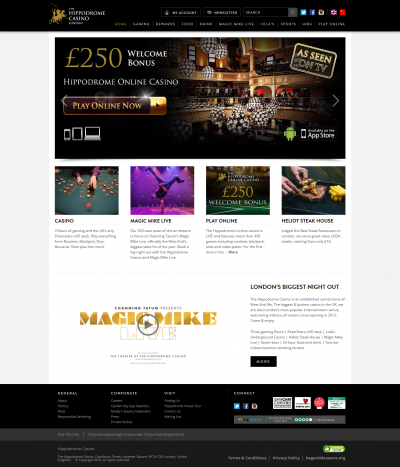 Hippodrome Casino Screenshot
