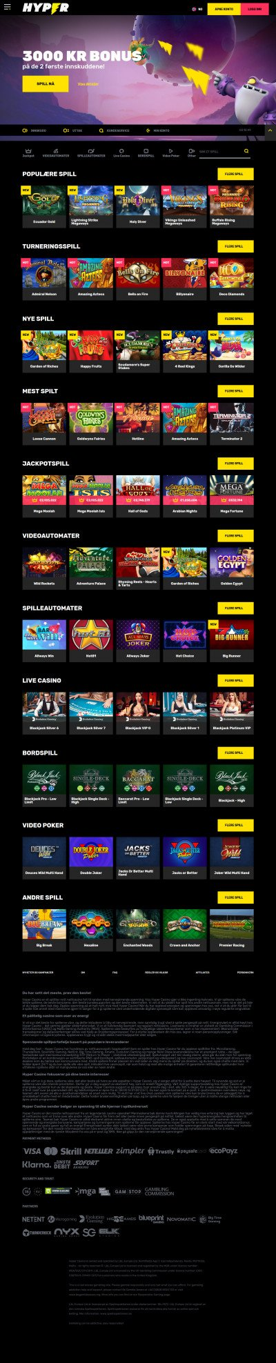 Hyper Casino Screenshot