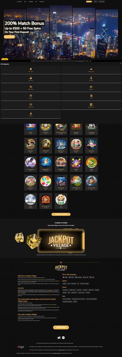 Jackpot Village Casino kuvakaappaus