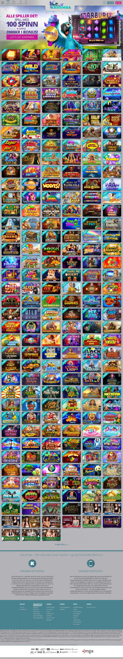 Karamba Casino Screenshot