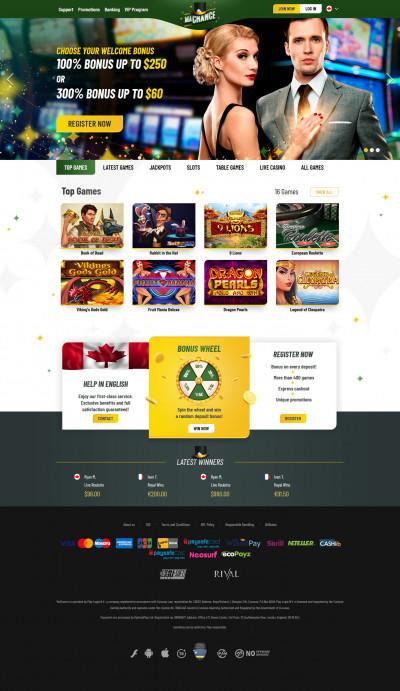 MaChance Casino kuvakaappaus