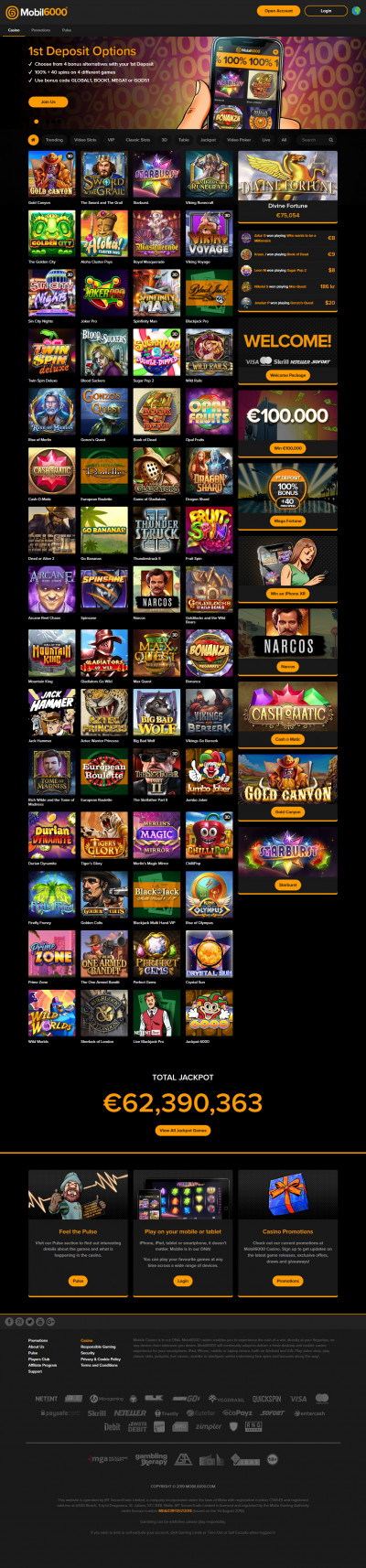 Mobil6000 Casino Screenshot