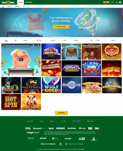 Piggy Bang Casino kuvakaappaus