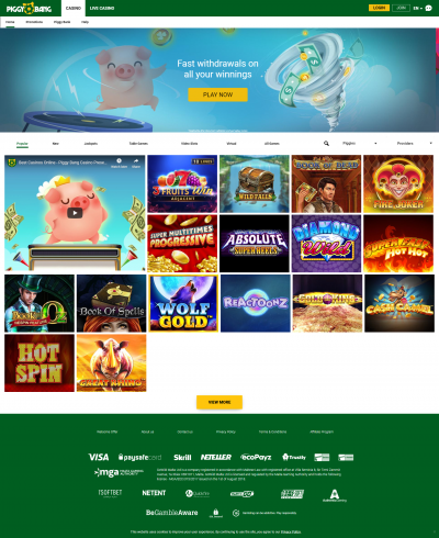 Piggy Bang Casino Screenshot