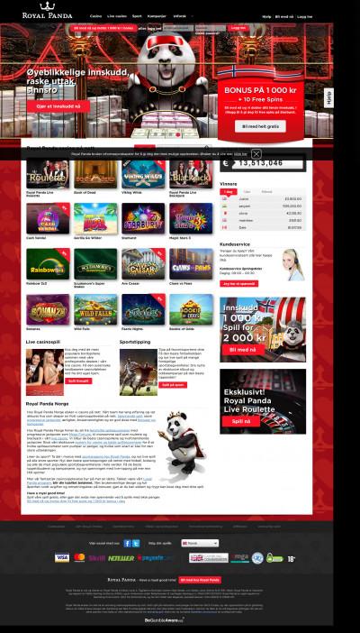 Royal Panda Casino kuvakaappaus