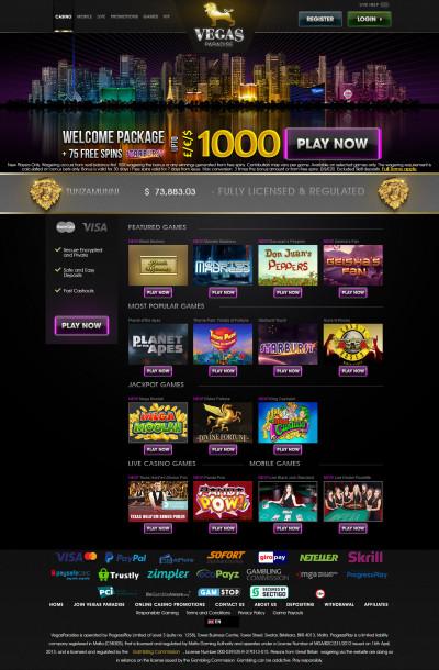 Vegas Paradise Casino Screenshot