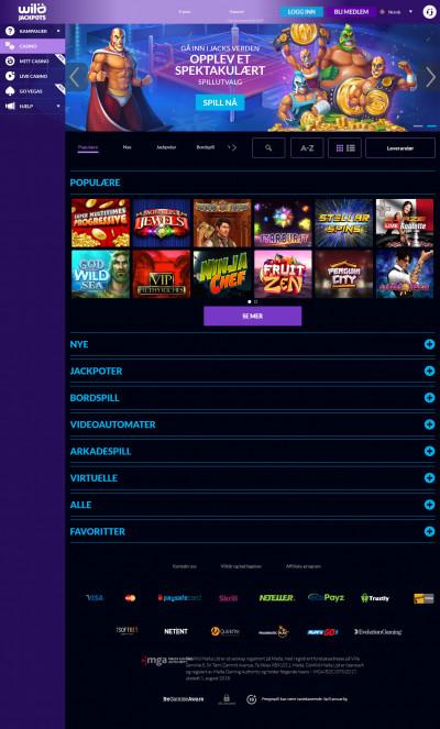 Wild Jackpots Casino Screenshot