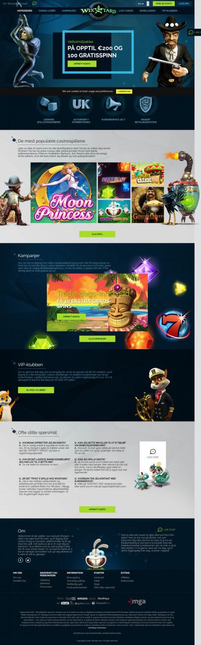 Wixstars Casino Screenshot