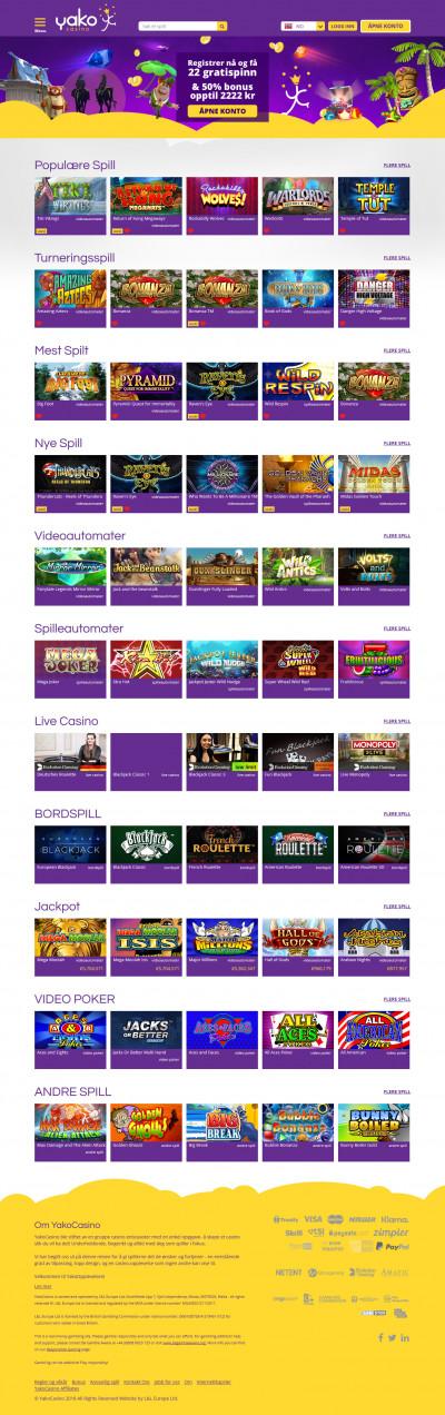 Yako Casino Screenshot