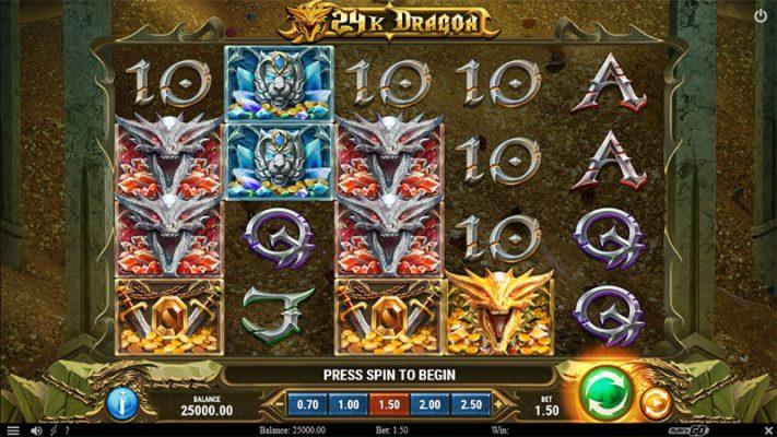 24K Dragon Slot Screenshot - CasinoTop