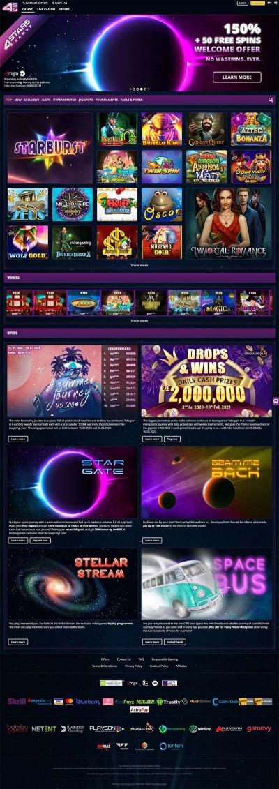 4StarsGames Casino Screenshot