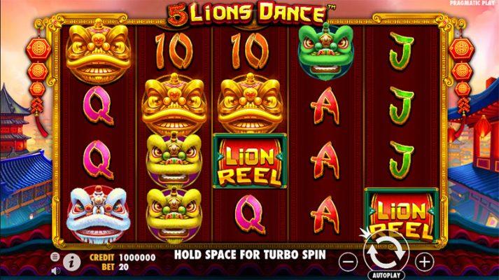5 Lions Dance Slot Screenshot - CasinoTop