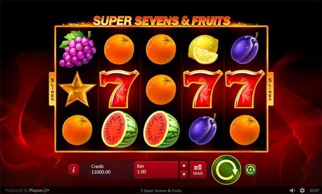 5 Super Sevens Fruits Slot Screenshot - CasinoTop