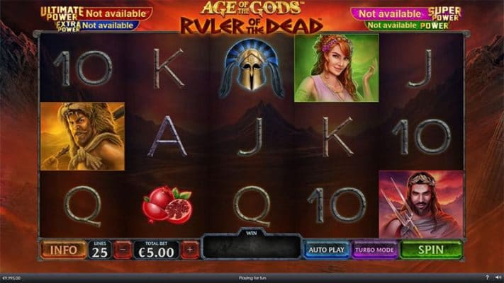 Age Of Gods Ruler of the Dead Slot Screenshot - CasinoTop