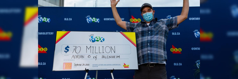 Blenheim Man Wins $70 million on Lotto Max