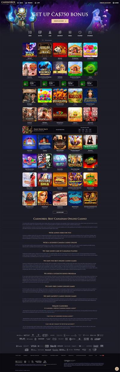 CasinoRex Casino Screenshot