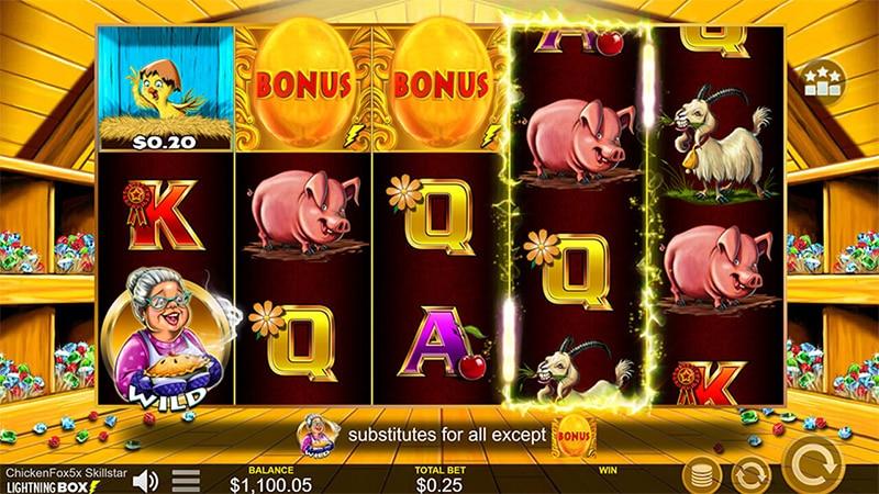 Chicken Fox 5x Skillstar Slot Screenshot - CasinoTop