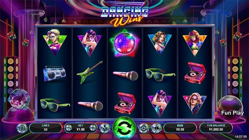 Dancing Wins Slot Screenshot - CasinoTop
