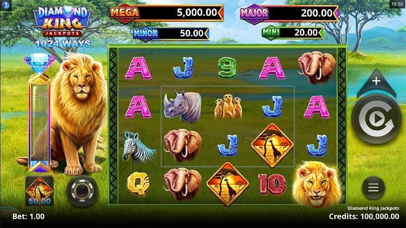 Diamond King Jackpots Slot Screenshot - CasinoTop