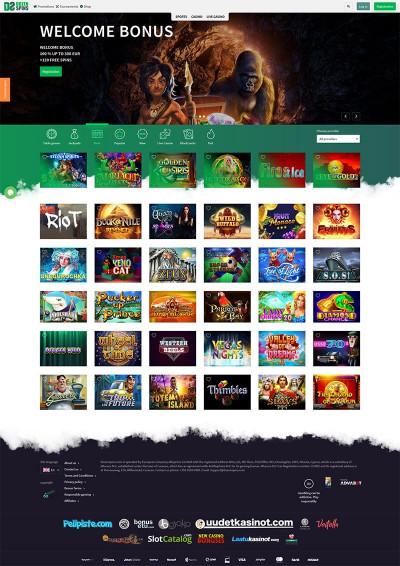 Dozenspins Casino Screenshot