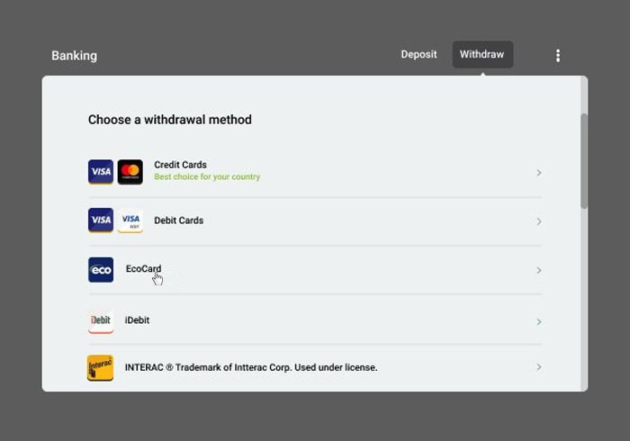 EcoCard Withdrawal 2