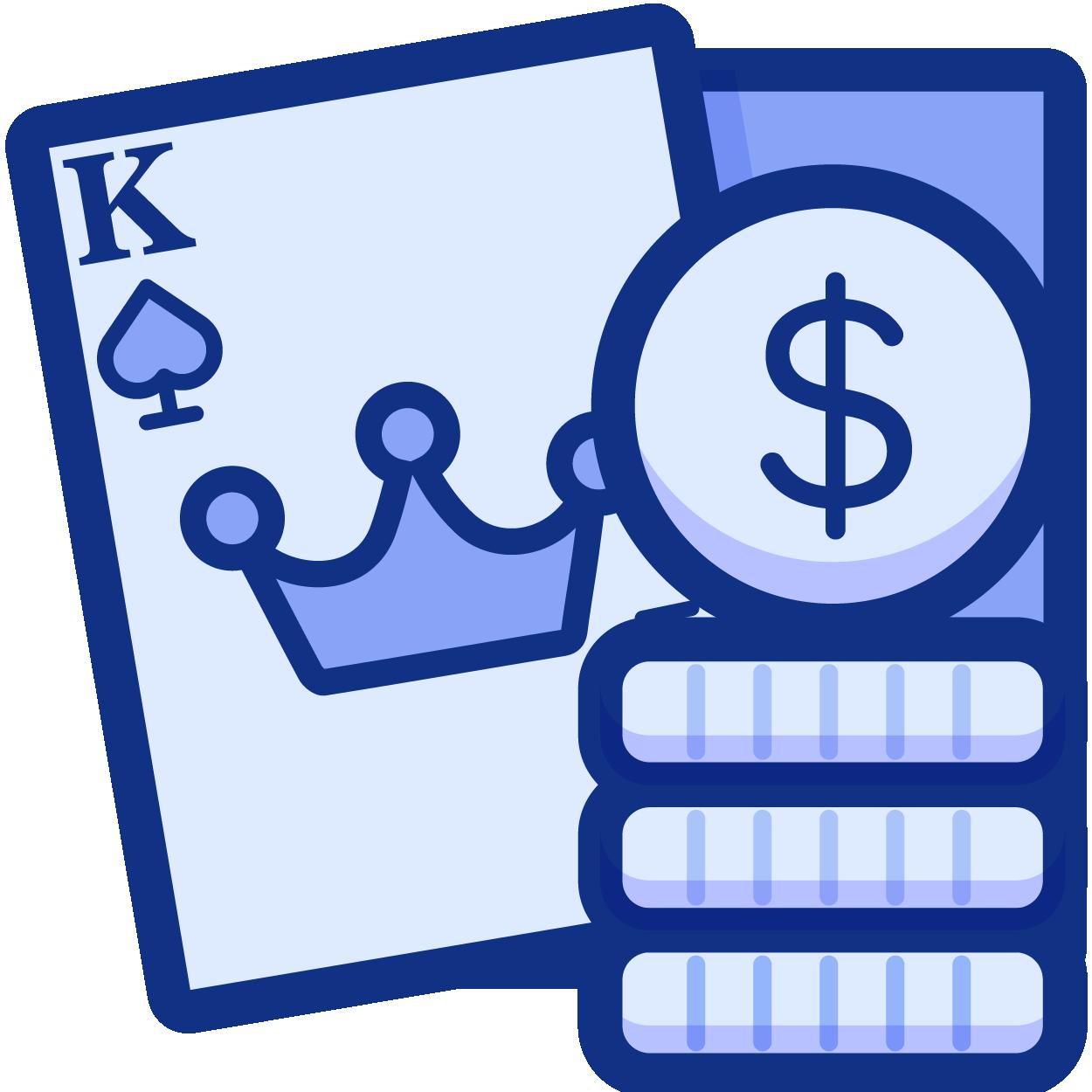 Gambling in the casino icon