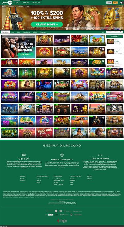 Greenplay Casino Screenshot