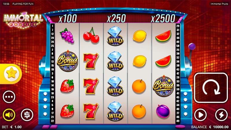 Immortal Fruits Slot Screenshot - CasinoTop