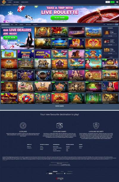 Luckland Casino Screenshot