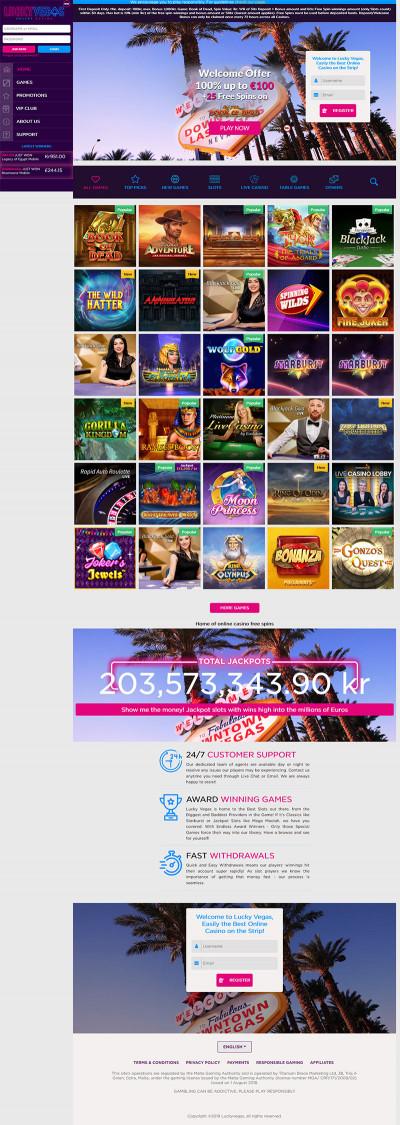 Lucky Vegas Casino Screenshot