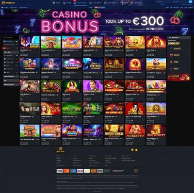 Mozzart Casino Screenshot