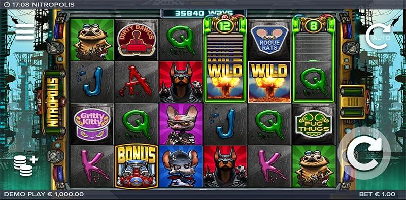 Nitropolis Slot Images - CasinoTop