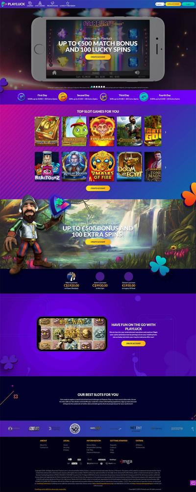 Playluck Casino Screenshot